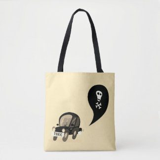 Designers tote bag with Black car