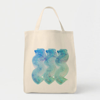 Designers tote bag with stylish waves