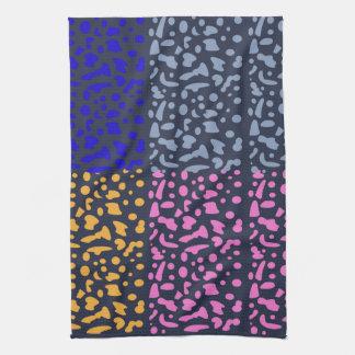Designers towel blue Tiger dots