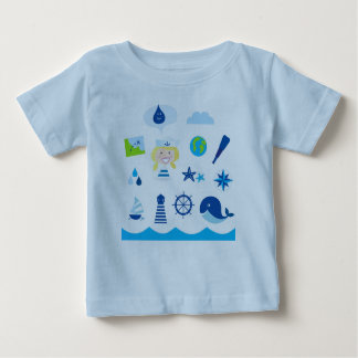 Designers tshirt blue with Mare icons