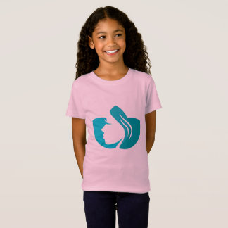 Designers tshirt for girl with Wellness art