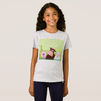 Designers tshirt grey with Farm animals