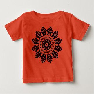 Designers tshirt red with mandala