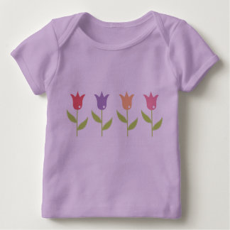 Designers tshirt with Tulips / Lavender