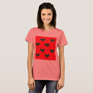 Designers tshirt Woman : Mandarins green red