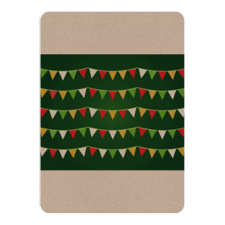 Designers vintage Greeting with Bunting Card