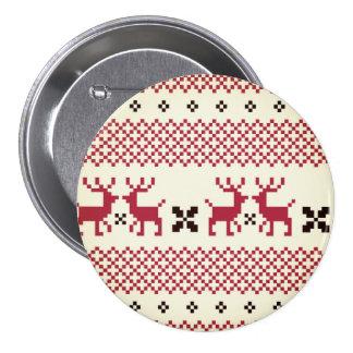 Designers vintage Reindeers button / PINK BLACK
