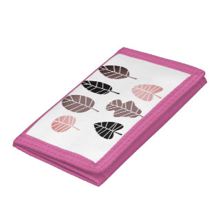 Designers wallet with Leaves
