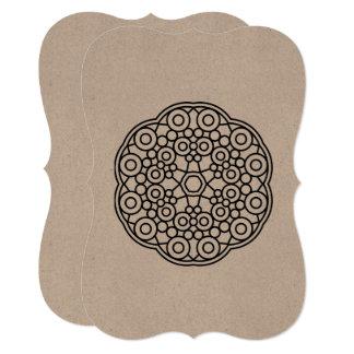 Designers wedding greeting with Mandala Card