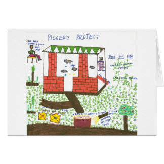 Designing a Piggery Greeting Card