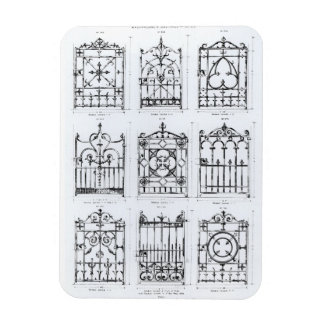 Designs for cast-iron railings, from 'Macfarlane's Vinyl Magnet