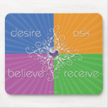 Desire • Ask • Believe • Receive Mousepad