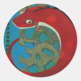 Desire the Dragon Classic Round Sticker