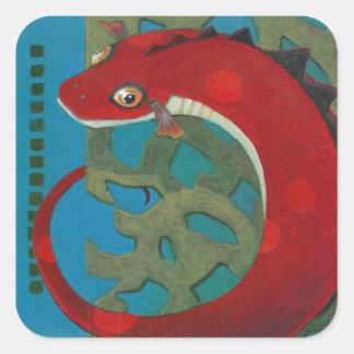 Desire the Dragon Square Sticker