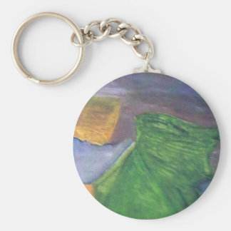 desire to achieve material gains basic round button key ring