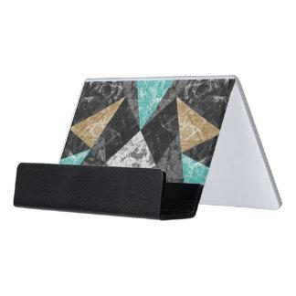 Desk Business Card Marble Geometric G430 Desk Business Card Holder