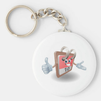 Desk calendar mascot keychain