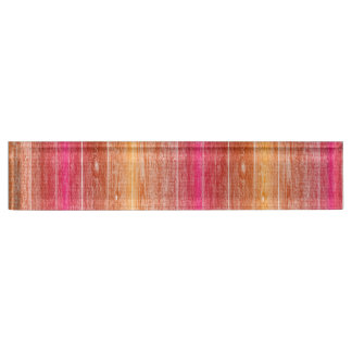 Desk Name Plates wood pink