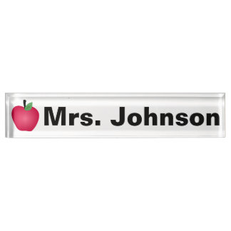 Desk Nameplate for Teacher