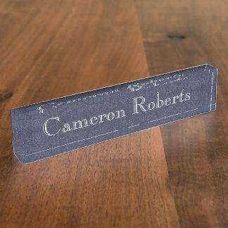 Desk Nameplate - HAMbyWhiteGlove - Denim Image