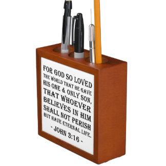 Desk Organizer - John 3:16