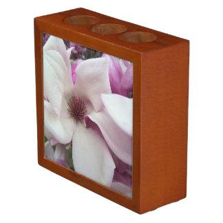 Desk Organizer - Saucer Magnolia Bloom