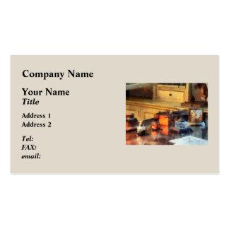 Desk Set Business Card Template