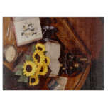 Desk Sunflower Book Cutting Board