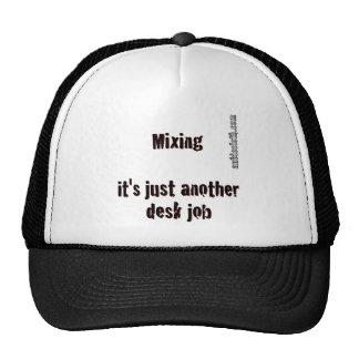 Deskjob on White Trucker Hat
