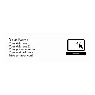 Desktop computer mouse click pack of skinny business cards