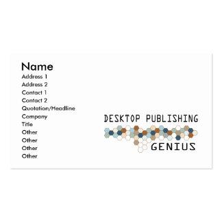 Desktop Publishing Genius Business Card Templates