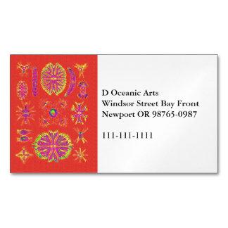 Desmidiea on Burnt Orange Magnetic Business Card
