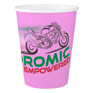 Desmodromic Empowered - Pink 9 oz Paper Cup