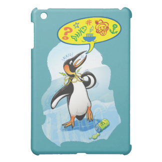 Desperate king penguin saying bad words cover for the iPad mini