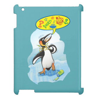 Desperate king penguin saying bad words iPad cover