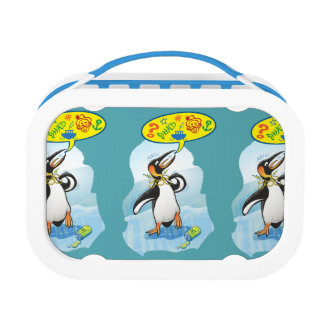 Desperate king penguin saying bad words lunch boxes