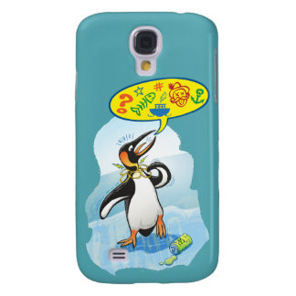 Desperate king penguin saying bad words samsung galaxy s4 cases