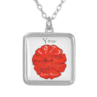 Dessalinia - Year 1975 Silver Plated Necklace