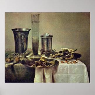 Dessert by Willem Claeszoon Heda Print
