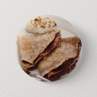 Dessert Crepes 6 Cm Round Badge
