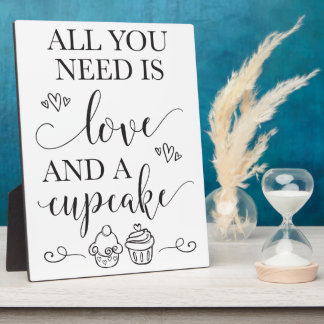 Dessert Cupcake Wedding Sign With Easel Plaque