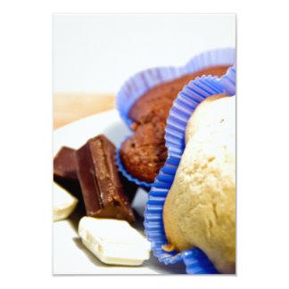 Dessert cupcake with chocolat 9 cm x 13 cm invitation card