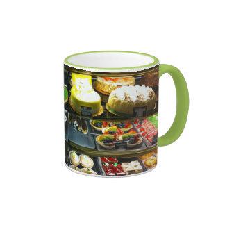 Dessert Display Case Ringer Mug