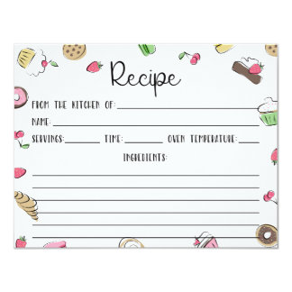 Dessert Doodles Recipe Card