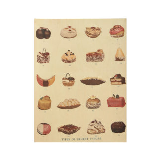 Dessert Fancies Poster Wood Poster