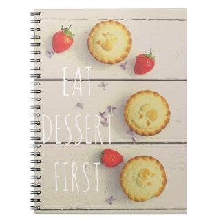 'Dessert First' vintage' vintage photo notebook