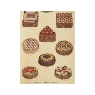 Dessert Gateaux Poster Wood Poster