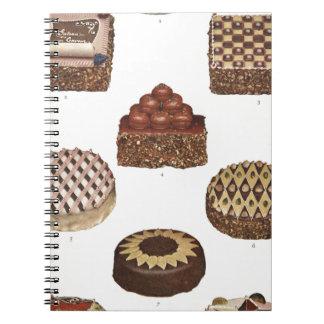 Dessert Gateaux Spiral Note Books