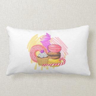 Dessert Hand Draw Watercolor Illustration Lumbar Cushion