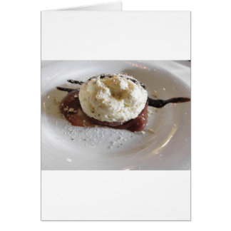 Dessert made with whipped cream and hazelnuts card